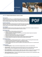 Global Investment Research - Business Analyst