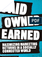 Paid Owned Earned by Nick Burcher