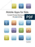 Mobile Apps for Kids - Current Privacy Disclosures Are Disappointing