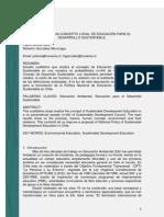 Análisis de un Concepto Local de Educación para el Desarrollo Sustentable