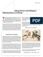 Jousting Armor and Weapon Maintenance