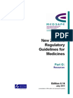 Part G - NZ Regulatory Guidelines for Medicines