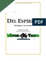Derrida, Jacques - Del Espiritu
