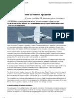 Indra Develops a Maritime Surveillance Light Aircraft
