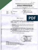 Surat Edaran Disdik Kota Bandung - Larangan LKS dan Sejenisnya