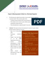 Merchant Export Without Duty - Excise Procedure