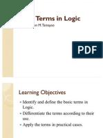Basic Terms in Logic2