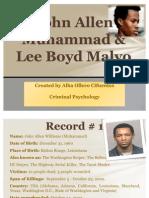 John Allen Muhammad & Lee Boyd Malvo