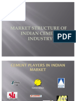 Mkt Structure of Indian Cement Industry