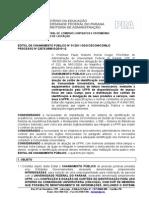 Íntegra do edital que possibilitou o contrato entre UFPR e Santander para confecção dos crachás-cartões