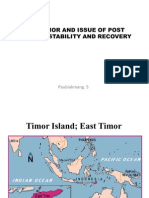 East Timor and Issue of Post Conflict Stability