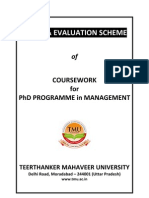 Course Work Phd Management