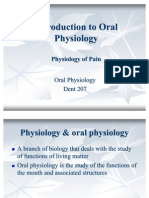 Introduction to Oral Physiology