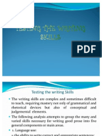 Testing the Writing Skills Jenny