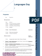 Careers Day Programme 2012