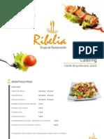 Carta de Catering Ribelia
