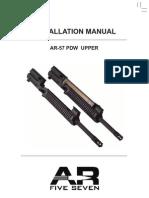 AR57 Upper Receiver Installation Manual