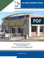 McDonalds Ground Lease