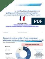 Prospective  sur l'Open Source dans le Secteur Public  Mobilité, Open data et Cloud Computing - Etude MARKESS International