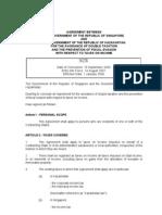 DTC agreement between Kazakhstan and Singapore