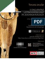 Tercera Circular del Segundo Encuentro Latinoamericano de Zooarqueología