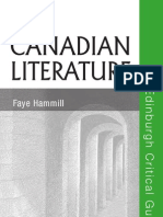 Canadian Literature Edinburgh Critical Guides to Literature