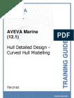 TM-2103 AVEVA Marine (12.1) Hull Detailed Design - Curved Hull Modelling Rev 2.0
