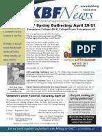 March 2012 KBF Newsletter