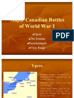 Major Canadian Battles of World War I