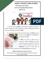 Semana de Prevenção e Promoção à Saúde da Mulher folder