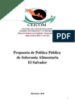 Propuesta Politica Publica Soberania Aliment Aria Ceicom 2010