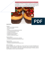 Cupcake Recheado Com Ganache Branco e Preto