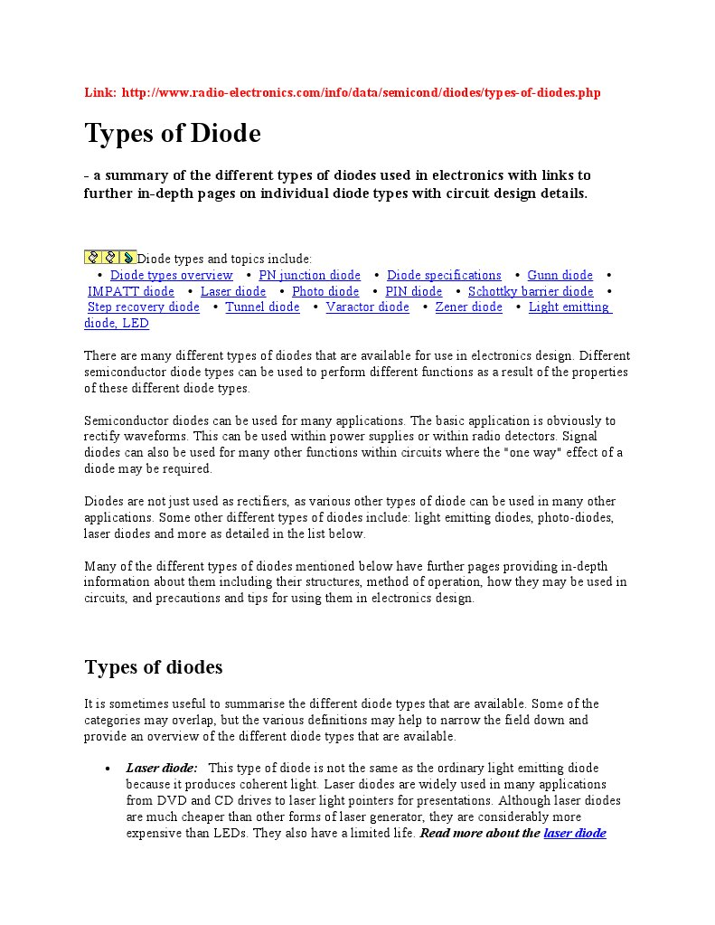 all diode | Diode | P–N Junction