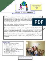 Newsletter Feb 17 2012