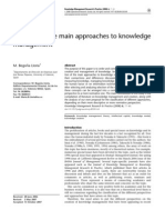 A Review of the Main Approaches to Knowledge Management-2007