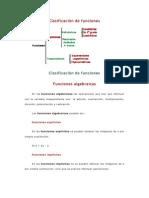 Clasificación de funcionescalculo