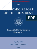 President's 2012 Economic Report To Congress