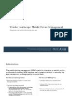 InfoTech MDM Report 2011