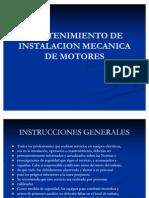 Mantenimiento de Instalacion Mecanica de Motores