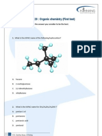 Topics 10 & 20 Organic Chemistry (1) (HL)