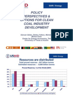Session III Policy Perspective and Options for Clean Coal Industry Development