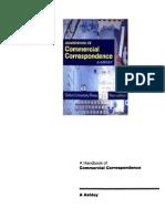 A Handbook of Comercial Correspondence