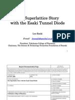 Leo Esaki- The Superlattice Story with the Esaki Tunnel Diode