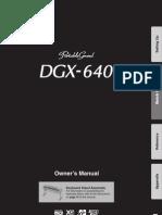 Dgx640 Manual