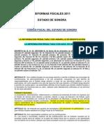Reformas Fiscales Del Edo. Son. 2011