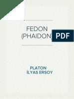 Fedon (phaidon) Platon (Eflatun)