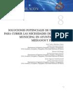 SOLUCIONES POTENCIALES DE SIG LIBRES PARA CUBRIR LAS NECESIDADES DE GESTIÓN MUNICIPAL EN AYUNTAMIENTOS MEDIANOS Y PEQUEÑOS
