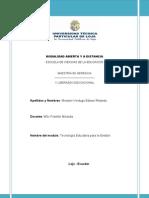 ACTIVIDAD DOS DE COMPRENSIÓN (TECNOLOGÍA EDUCATIVA PARA LA GESTIÓN)