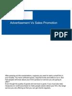 Advertisement vs Sales Promotion