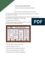Poster Presentation Online Worksheet